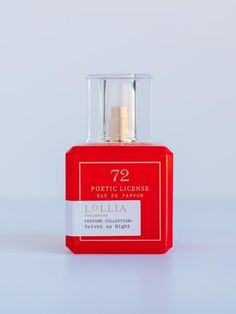 The Scent: Rose Milk and Frankincense (floral) Bold color block Poetic License eau de parfum adds a pop of color to your space. Each charming glass bottle is designed to mirror the ornate, youthful femininity of the fragrance housed within. Glass Bottles, Perfume Bottles, Rose Milk, Beauty Essentials, Bold Colors, Color Pop, Fragrance, Velvet, Night