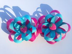Flower Hair Bow by THERIGHTMOMENT on Etsy