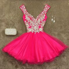 Pink Homecoming Dress,Pink Homecoming Dresses,Chiffon Homecoming Gowns,Bling Party Dress,Short Prom Dress,Silver Beading Sweet 16 Dress,Sparkly Homecoming Dresses,Glitter Formal Evening Gown