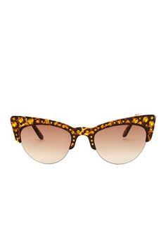 Betsey Johnson Women's Cat Eye Rhinestone Plastic Frame Sunglasses. Mine. Every girl needs a pair of Cat Eye Rhinestone glasses