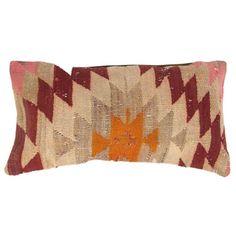 Turkish Kilim Pillow in Orange and Magenta - $68 on Chairish.com