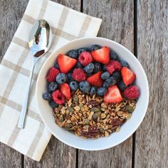 This granola is my oldest and most loved recipe. Everyone adores it. The nutty crunchy texture and sweet echoes of cinnamon and coconut make this the most delicious and nutritious way to start any day.The pecans and almonds provide a fantastic intake of protein, omega-3 and vitamin E. The pumpkin, sunflower and flax seeds enhance …