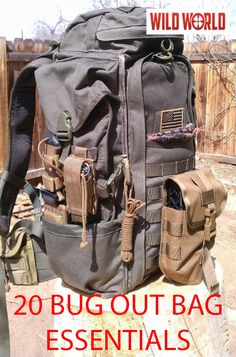 Check out this amazing Bug Out Bag and the 20 products inside it on WildWorld.