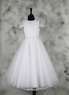 First Communion Dress - Great Gatsby Vintage Inspired Satin with Lace Cape - Eliza - Isabella Collection - New 2015 - Girls Communion Dress Shop Girls Communion Dresses, Girls Dresses, Flower Girl Dresses, Confirmation Dresses, Fairytale Dress, First Communion, Dress First, Special Occasion Dresses, Dress Collection