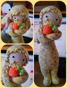La coneja Rita super tierna. Diseño Lalylala, tejido por mi.