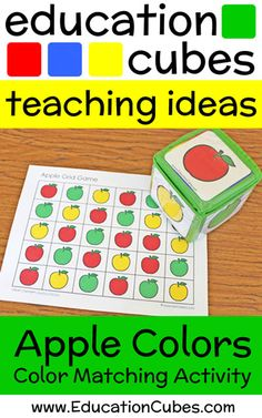 Make learning fun by using Education Cubes, customizable learning blocks for all your educational needs! See these fun apple counting & color matching games! Early Learning, Fun Learning, Grid Game, Apples To Apples Game, Apple Coloring, Matching Games, Red Apple, Board Games, Teaching