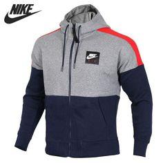 Original New Arrival 2018 NIKE NSW HOODIE AIR FZ FLC Men s Jacket Hooded  Sportsw  fashion beb08381df74