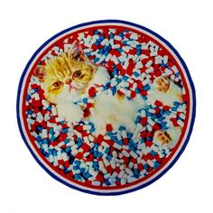 Round Rug Cat - Seletti wears Toiletpaper round rug Material: Front Polyester, rear cotton and polyester Size: cm ø 194 Funky Living Rooms, Rugs In Living Room, Wall Carpet, Rugs On Carpet, Carpets, Cat Rug, Folk Embroidery, Rectangular Rugs, Modern Area Rugs
