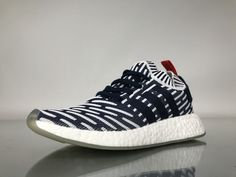 """Adidas NMD R2 Primeknit """"Navy White Red"""" BB2909 Women Ladies Girls Real Boost for Sale2"""