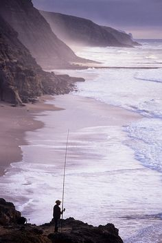 São Julião is often considered as the last southern beach , in Ericeira, Portugal, and is a beautiful beach with huge rock cliffs and strong waves.