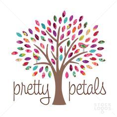 pretty petals tree logo   StockLogos.com