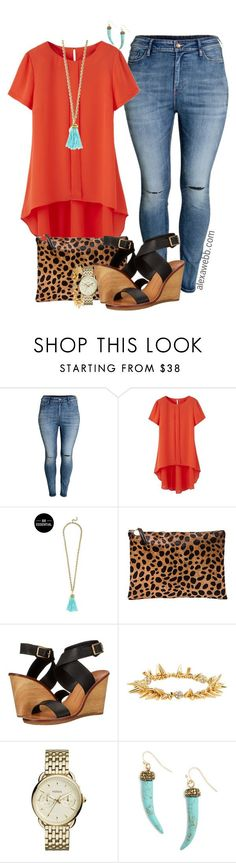 Plus Size Orange Top - Alexawebb.com by alexawebb on Polyvore outfit, plussize and plussizefashion