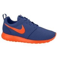 Nike Roshe Run - Men's - Dark Royal Blue/Team Orange/Volt