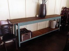 The Grocery Console by Landrum Tables  http://www.landrumtables.com