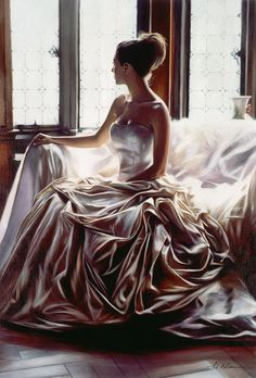 24 Mind Blowing Glamorous Oil Paintings by Famous Artist Rob Hefferan. Follow us www.pinterest.com/webneel