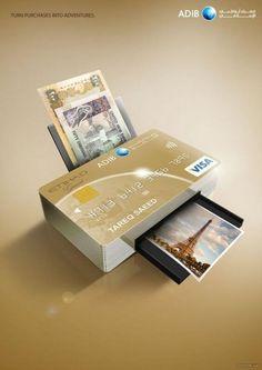 card credit travel printer advertisement for finance