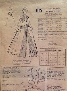 Modes Royale Pattern 1115 gown