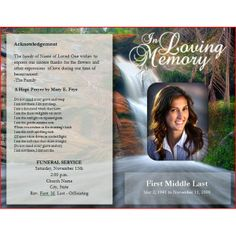 Downloadable Funeral Bulletin Covers | Free Funeral Program Template: 10 Different Options