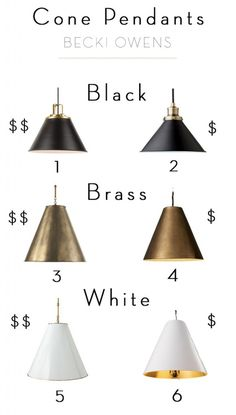 Clean, crisp, modern, fresh...cone pendants have all the elements of lighting that I love. I'm working on a project right now that incorporates these beautiful lights and I can't wait for the installation. So in the meantime, I thought I would share some beautiful inspiration I've pinned for these amazing statement lights. Get ready to fall in love.
