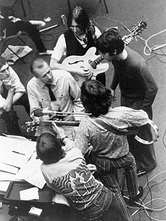The Beatles | The Beatles with producer George Martin, recording ''Hey Jude'' at Abbey Road studios in 1968