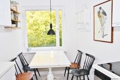 keittiö,remontti,ruokapöytä,ruokailuryhmä,kattovalaisin,seinähylly,valoisa,vaalea