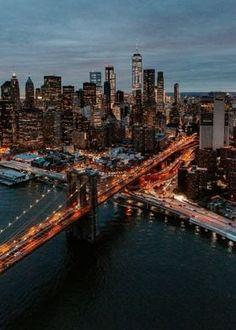 Metal Poster New York City Night Lights