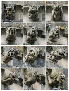 "The Gargoyles of Paisley Abbey... ""The 850-year old Paisley Abbey is a former Cluniac monastery, and current Church of Scotland parish Kirk, located on the east bank of the White Cart Water in the center of the town of Paisley, Renfrewshire, in West central Scotland"""