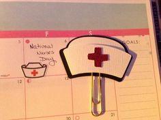 Nurse Hat Planner Clip Goddiss Inc Erin Condren by GoddissInc