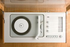 """Braun """"most of all, good design is as little design ad possible"""" - Dieter rams Dieter Rams Design, Braun Dieter Rams, Music Pics, Record Players, Phonograph, Fashion Mode, Mid Century Design, Minimalist Design, Timeless Design"""