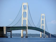 Awesome Michigan. When I was a kid, I was terrified to cross the bridge....I thought you had to drive up the high cables :)