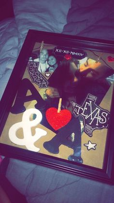 Shadow-Box | DIY Valentine Gifts for Him | DIY Birthday Gifts for Him Anniversary