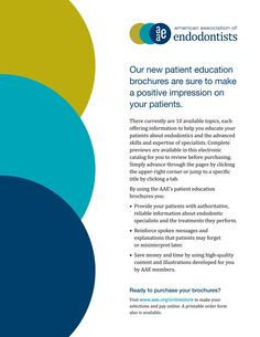 American Association of Endodontists Digital Library Brochure [1]