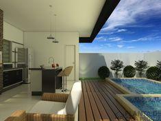 CS - 0027projeto-planta-casa-sobrado-arquitetura-moderna-180-metros-terreno-8x25 (16) Cs, Outdoor Decor, House, Home Decor, Duplex House Plans, Yellow Cottage, House 2, Modern Architecture, Modern Houses