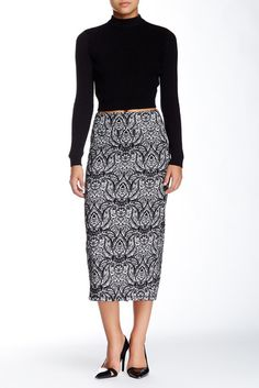 Jacquard Longline Pencil Skirt  Sponsored by Nordstrom Rack. Sponsored by Nordstrom Rack.