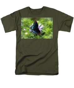 Red-spotted Purple Men's T-Shirt (Regular Fit) featuring the photograph Red-spotted Purple by Cynthia Guinn