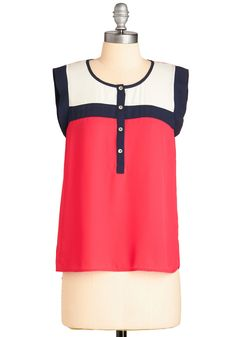 Leave it to Glee Top. When it comes to feeling bright and fabulous, you depend on this colorblocked tank! #pink #modcloth