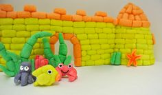 Under the sea castle and friends made with Magic Nuudles!