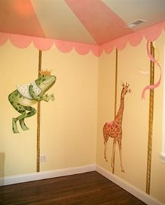 1000 images about kids room carrousel on pinterest for Carousel wall mural