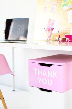 "DIY ""Thank You"" Filing Cabinet | studiodiy.com"