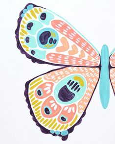 New butterfly underway! This one is on a slightly larger scale, and I'm really enjoying the extra space to play! Gouache Painting, Diy Painting, Butterfly Illustration, Illustration Art, Painting Inspiration, Art Inspo, Butterfly Art, Butterflies, Guache
