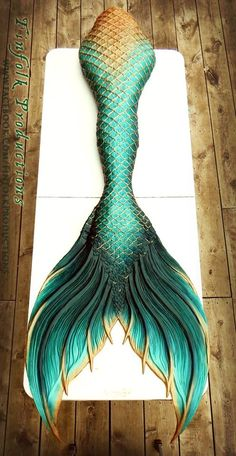 Finfolk Productions Hmm... A mermaid tail... If I could swim I would definitely wear this.
