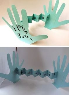 I Love You...This Much, Card | Click Pic for 18 DIY Fathers Day Crafts for Kids to Make | Homemade Fathers Day Crafts for Toddlers to Make {pacific kid}