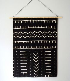 ▲▲▲ AUTHENTIC MUD CLOTH WALL HANGING ▲▲▲ ▲ When I came across my first piece of vintage mud cloth I instantly fell in love. The simple, geometric