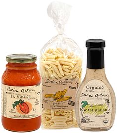 Cena Veloce (Quick Dinner Pack)  1 25oz Cucina Antica la Vodka Sauce  1 Cucina Antica Imported Artisan Italian Semolina Penne  1 Cucina Antica Organic Low Fat Italiano Salad Dressing