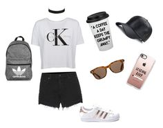 """""""Walk in the park"""" by pariswither on Polyvore featuring Calvin Klein, rag & bone, ToyShades, Vanessa Mooney, adidas and Casetify"""