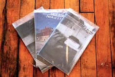 """Galerie F also has zines from various artists available for purchase.  Here are three zines by Sergej Vutuc.  Sergej will have photography displayed at upcoming event """"Shot From the Hip: A Photography Exhibition""""  RSVP here: https://www.facebook.com/events/206160856206845/  #zines #galerief #chicago #photoart"""
