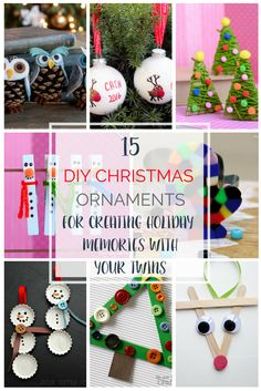 Fun crafts for the whole family are a wonderful Christmas tradition.  These 15 DIY ornament ideas are perfect to make with your kids!