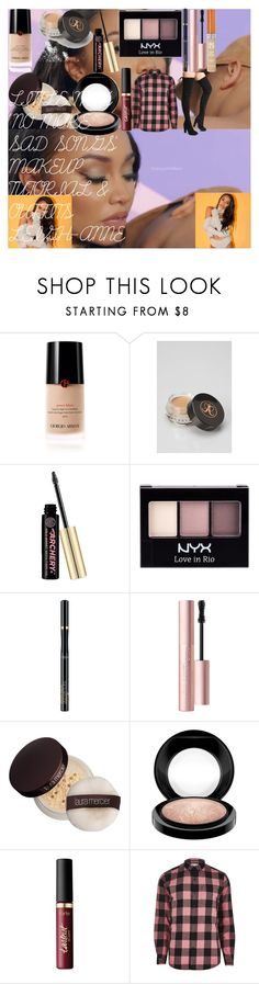 """""""LITTLE MIX 'NO MORE SAD SONGS' MAKEUP TUTORIAL & OUTFITS LEIGH-ANNE"""" by oroartye-1 on Polyvore featuring beauty, Giorgio Armani, Anastasia Beverly Hills, Soap & Glory, NYX, L'Oréal Paris, Too Faced Cosmetics, Rimmel, Laura Mercier and MAC Cosmetics"""