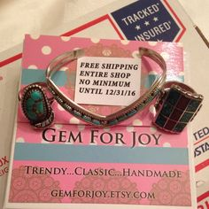 Use coupon at checkout: FREEHOLIDAYSHIP until 12/31/16, no minimum purchase...includes entire shop...this bracelet is on its way to California!