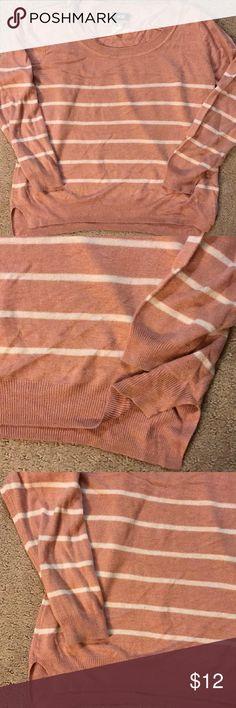 H&M sweater. White/cream. Women S. quarter sleeve H&M cotton sweater. White/cream. Women S. quarter sleeve. Stripes. Good condition. H&M Sweaters Crew & Scoop Necks